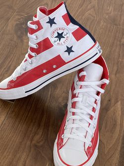 Converse Americana Flag Red White Blue High Hi Tops Stars Stripes Sneakers SZ 8 men's & women's 10 for Sale in Durham,  NC