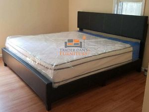 Brand new king size platform bed frame with a pillowtop mattress for Sale in Silver Spring, MD