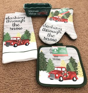 Christmas Red Truck Kitchen Set for Sale in Harrisburg, PA