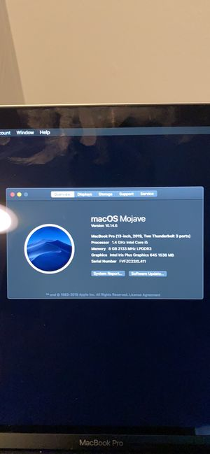 Apple MacBook Pro 2019 for Sale in Plainville, CT