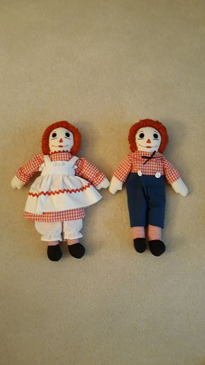 """Raggedy Ann & Andy 14"""" Vintage like new for Sale in Strongsville, OH"""