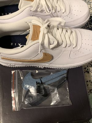 Nike Air Force 1 removable Nike swoosh for Sale in Bakersfield, CA