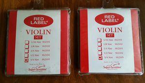 Red Label Super Sensitive Violin Strings 3/4. for Sale in Oceanside, CA