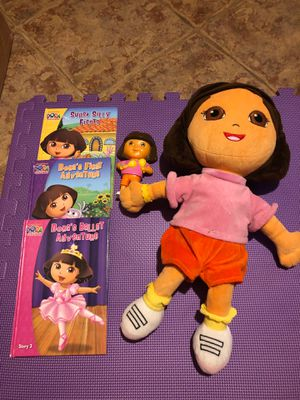 Dora books with music player and doll for Sale in Lilburn, GA