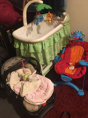 50 for all,. Bassinet bouncer car seat for Sale in Buffalo, NY