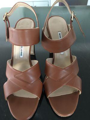Manolo Blahnik brown leather heels size 10/40 for Sale in Boston, MA