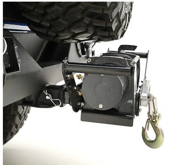 Removable 2 Inch Hich Receiver Cradle Winch Mount For