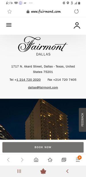 Hotel Resort Fairmont Dallas TX for Sale in Dallas, TX