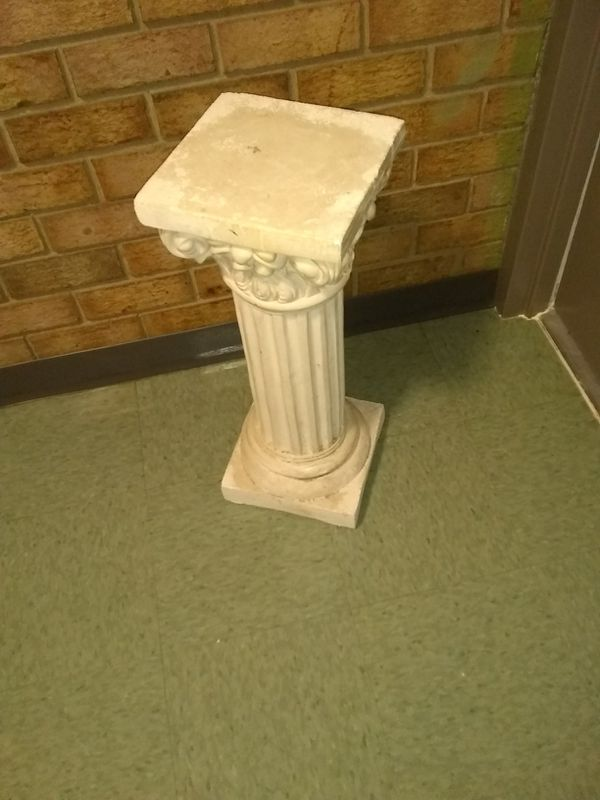 """Plaster plant stand 25""""H 10x10"""