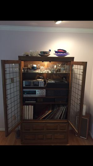 Entertainment Center, Record Player and Speakers for Sale in Haymarket, VA