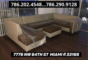 Large U sectional couch never used for Sale in Miami, FL