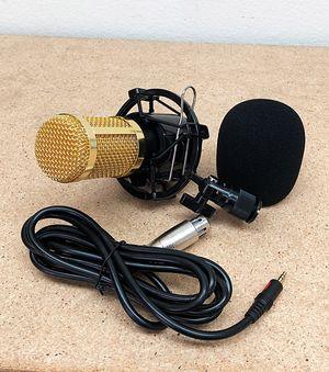 New $20 BM800 Condenser Microphone Kit Shock Mount Record Mic Anti-Wind Cap Studio Black for Sale in South El Monte, CA