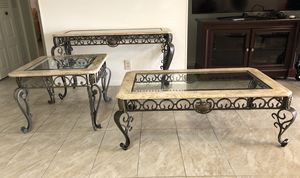 3 Tables, entryway table, coffee table, side table for Sale in Plantation, FL