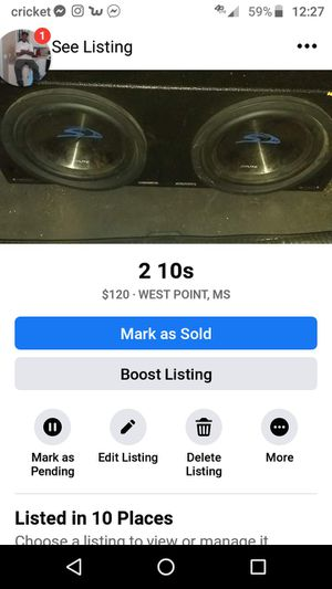2 10 comp 2800 watts each for Sale in West Point, MS