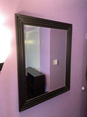 28 in x 34 in black and bronze wall mirror very good condition perfect! for Sale in Centennial, CO