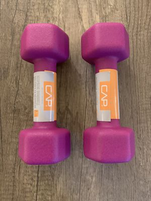 5 POUND DUMBBELL WEIGHTS SET - 10 LB TOTAL WEIGHT for Sale in Forest Park, IL