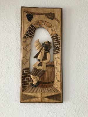 Wood sculpture wall art for Sale in West Palm Beach, FL