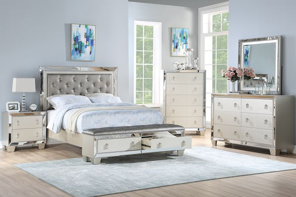 4-pcs queen size bedroom set on sale only at elegant Furniture 🎈🛋🛏
