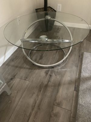 3 piece set coffee tables glass for Sale in Modesto, CA