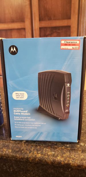 Motorola SB5101U router for Sale in Gahanna, OH