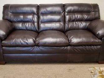 Brown Leather Couch for Sale in Aurora,  CO