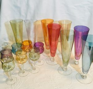 Vintage shot glasses and champagne flutes for Sale in Annandale, VA