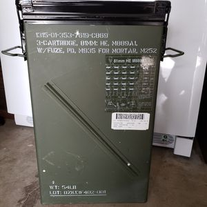 Military mortor box. Black painted lid. for Sale in Cleveland, TN