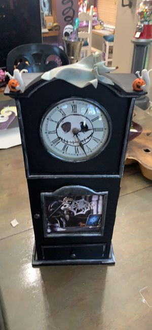 Nightmare Before Christmas mantle/wall clock with storage for Sale in Flower Mound, TX