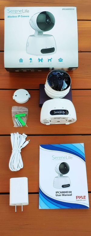 BRAND NEW SereneLife PyleUSA Indoor Wireless IP Camera HD720p Network Security Surveillance Home Monitor Motion Detection Night Vision PTZ 2-Way-Audio for Sale in Rancho Cucamonga, CA