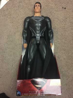 "31"" large man of steel Superman black suit dc collectibles action figure for Sale in Columbus, OH"