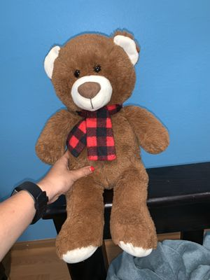 Stuffed bear with scarf for Sale in Yorba Linda, CA