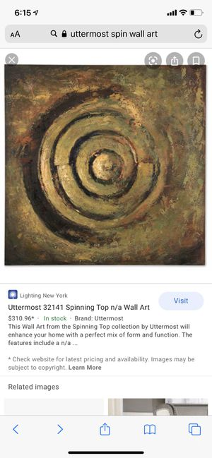 Spinning Top Wall Art by Uttermost for Sale in Hialeah, FL