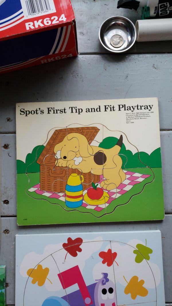 Puzzles - music, Dora the Explorer, and spot
