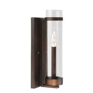 """Milan 15"""" Tall Single Taper Candle Style Wall Sconce with Clear Cylinder Shade for Sale in Davenport, FL"""