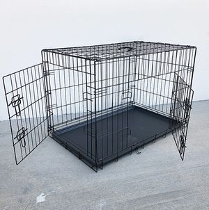 """New $45 Folding 36"""" Dog Cage 2-Door Pet Crate Kennel w/ Tray 36""""x23""""x25"""" for Sale in Whittier, CA"""