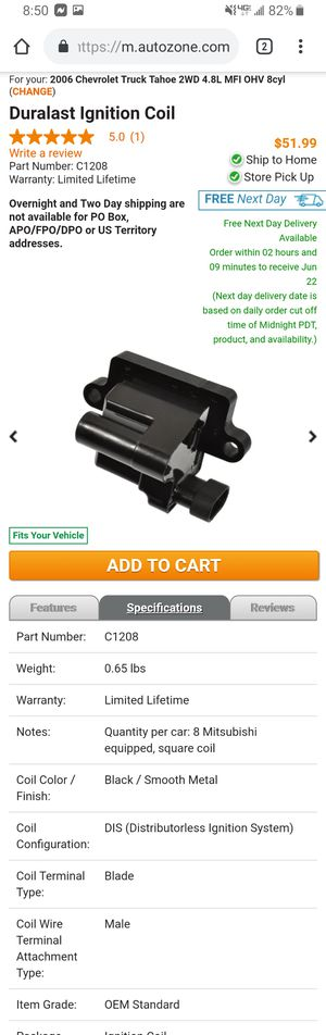 Ignition coil C1208 for Chevrolet for Sale in Hacienda Heights, CA