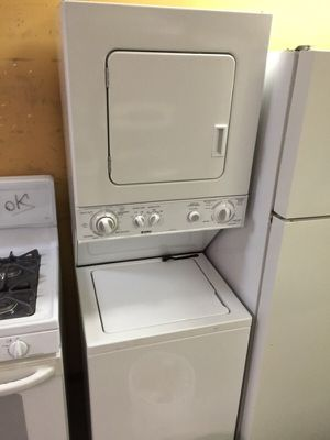 "24"" GE SPACEMAKER STACKUNIT WASHER DRYER WORKS GREAT CLEAN WARRANTY DELIVERY for Sale in Washington, DC"
