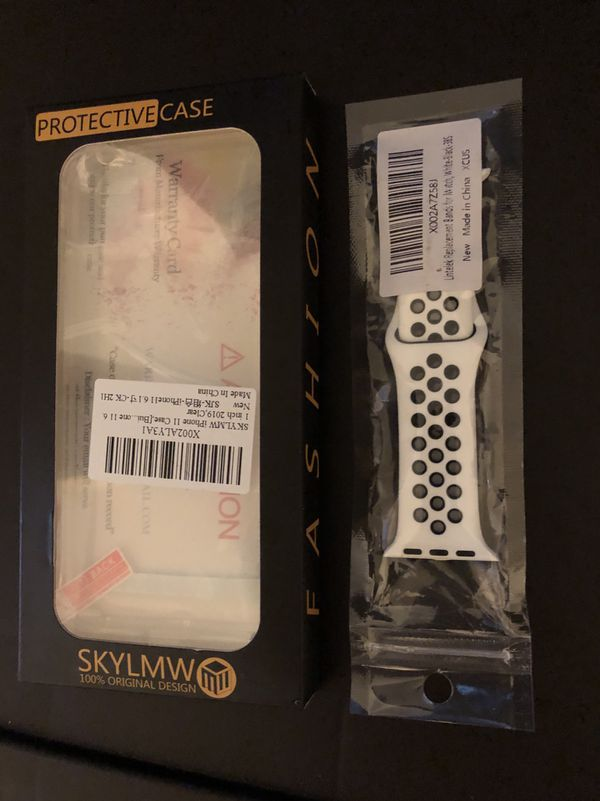 Iphone 11 Clear Case and Apple Watch wrist band