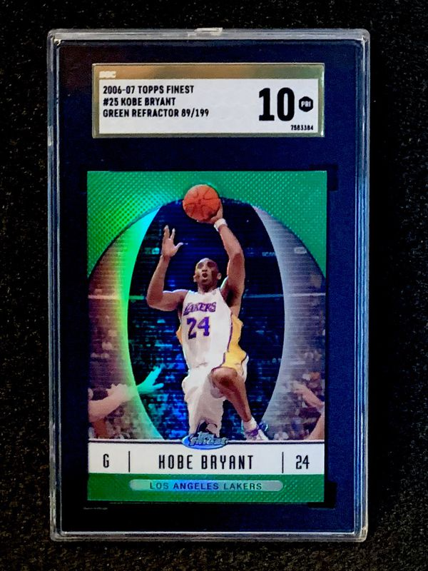 2006-07 Topps Finest Kobe Bryant 89/199 Green Refractor SGC 10 Gold Label Pristine
