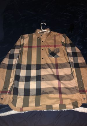 Burberry long sleeve button up for Sale in Santee, CA