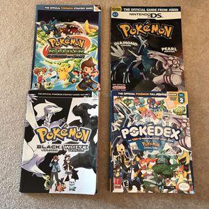 Pokemon video game guide books black white diamond pearl ranger pokedex handbook for Sale in Burtonsville, MD