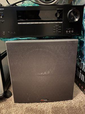 Polk Audio Subwoofer & Onkyo Receiver for Sale in Chesapeake, VA