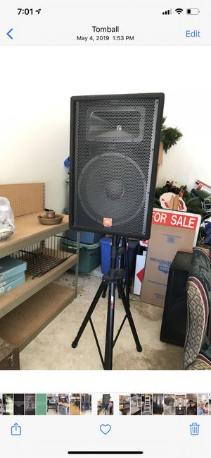 JBL SET of 2 on Tripod stands set for $600.00 or best offer. Brand new never used. for Sale in Tomball, TX