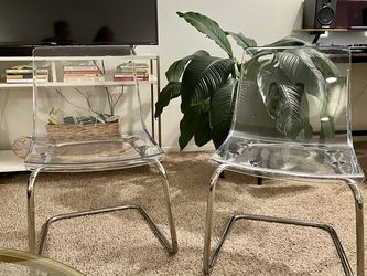IKEA Tobia modern clear dinning chairs (2) for Sale in San Diego,  CA