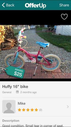 "16"" girls huffy bike for Sale in Homestead, PA"