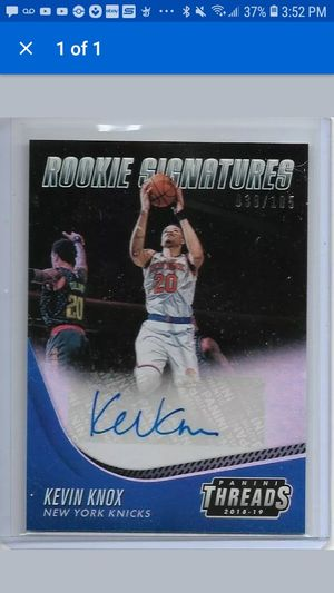 Kevin Knox rookie autograph card for Sale in Santa Ana, CA