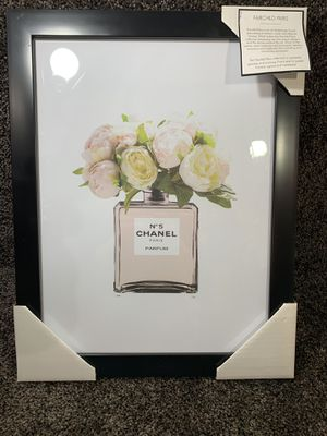 CHANEL NO 5 peonies perfume print painting wall art decor 🖼 18 by 14 inch 100% authentic l for Sale in Dundalk, MD