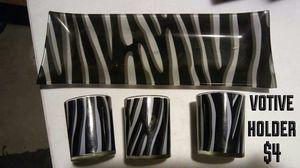 Zebra votive holder for Sale in Orondo, WA