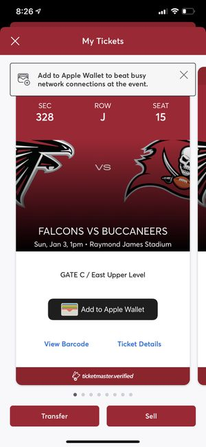 BUCCANEERS FALCONS for Sale in Tampa, FL