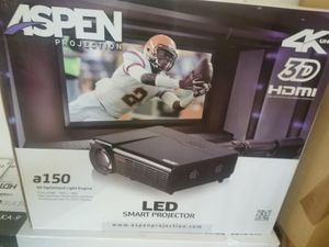 Brand New in Box. Unopened Includes 1.Kamron HD Home Theater System 2.Aspen LED Smart Projector 3. Aspen LED Smart Projector Screen for Sale in Laredo, TX